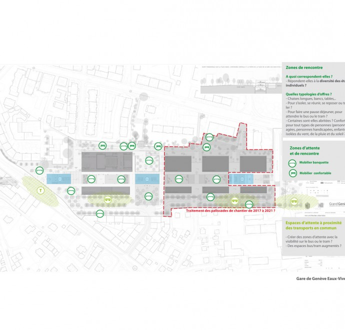 Geneva station - Plan meeting area