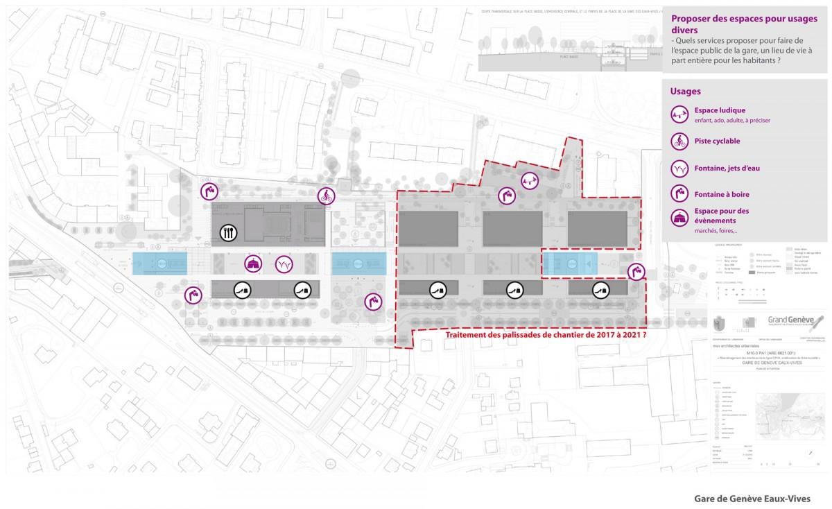 Plan Geneva station Eaux-Vives