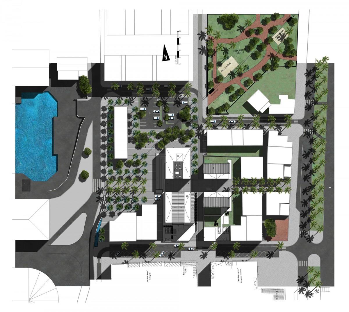 Plan City of Port, Reunion