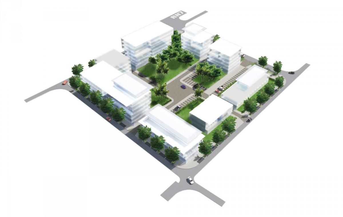 Plan ZAC des Mascareignes, axonometry island