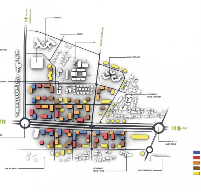 ZAC des Mascareignes, southern sector development, general pal