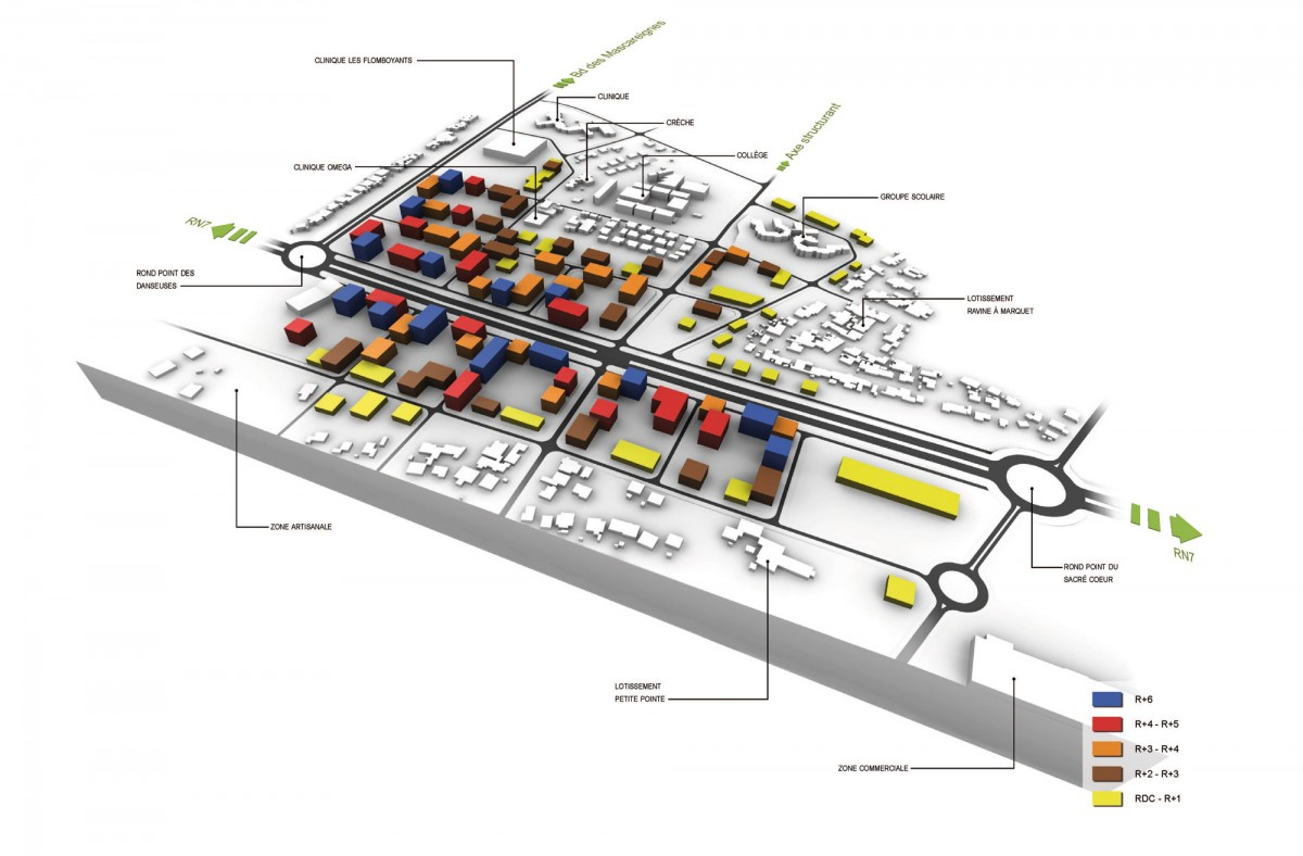 Plan ZAC des Mascareignes, southern sector development