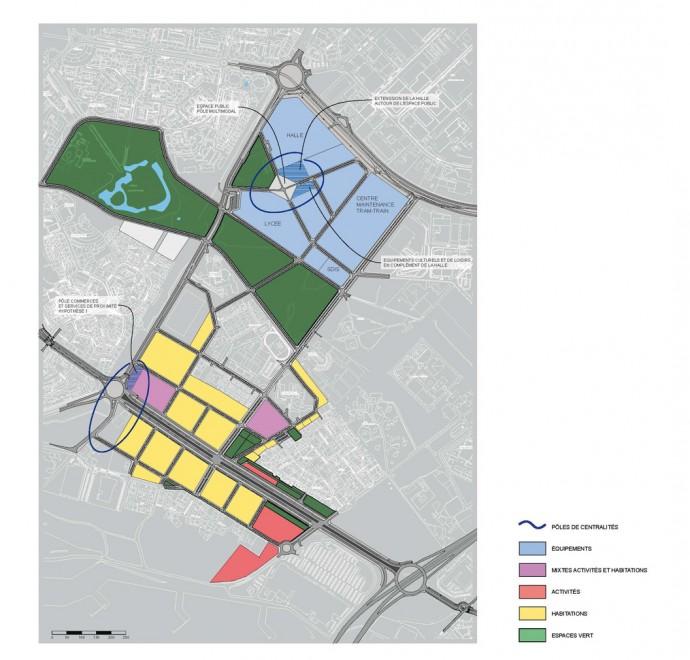 ZAC des Mascareignes, centralized hubs
