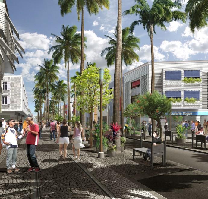 Plan City of Port, Reunion – ZAC Mail de l'Océan Indien, street view